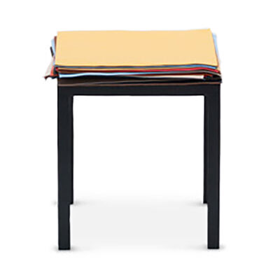LOEWE Set Stool W/ Layers Of Leather Black/Multicolor front