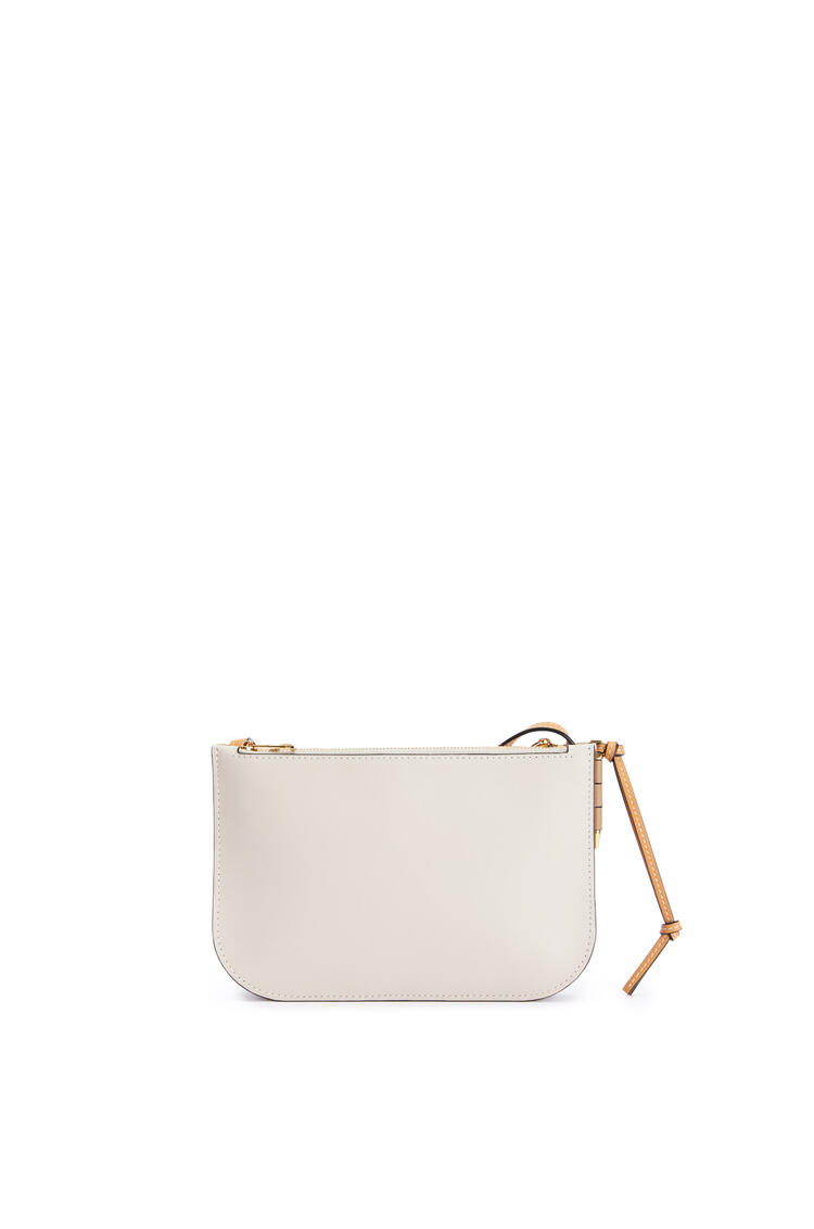 LOEWE Gate double zip pouch in soft calfskin Mink Color/Light Oat pdp_rd