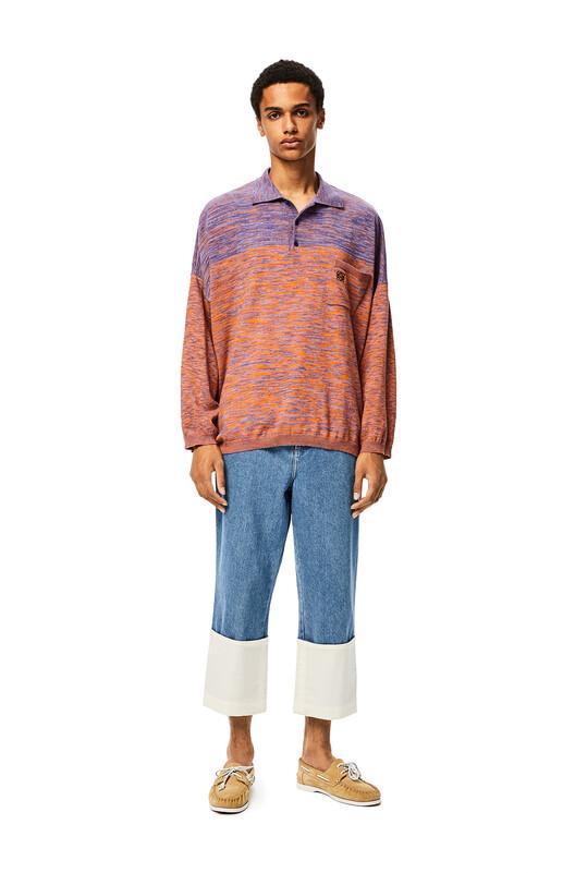 LOEWE Fisherman Stonewash Jeans ブルーデニム front