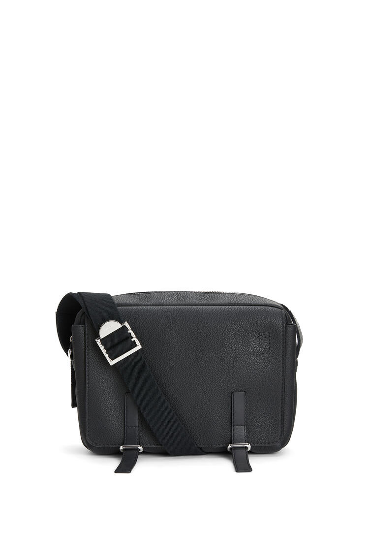 LOEWE Small Military messenger bag in calfskin Black pdp_rd