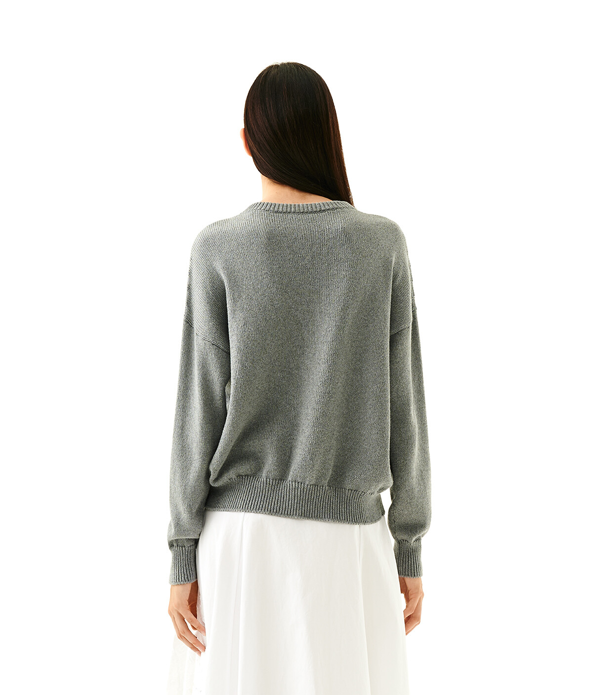 LOEWE Loewe Stitch Sweater Grey front