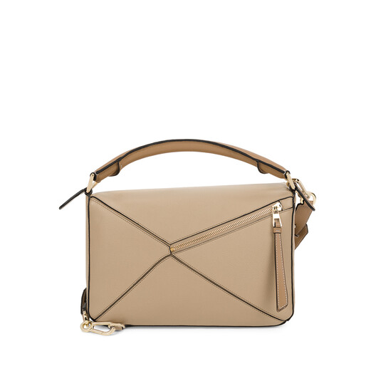 LOEWE パズル バッグ Sand/Mink Color front