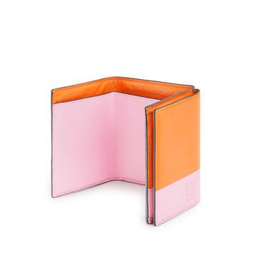 LOEWE Color Block Trifold Wallet 橘色/糖果色 front