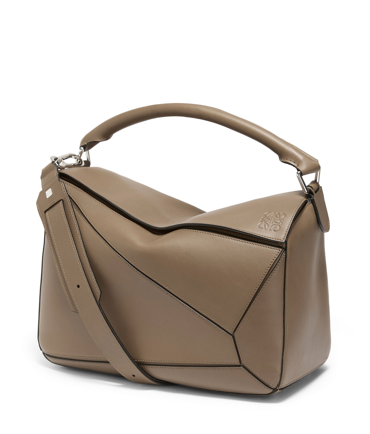 LOEWE Puzzle Large Bag Dark Taupe front