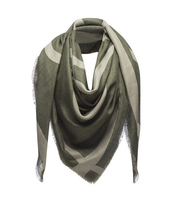 LOEWE 140X140 Scarf Giant Anagram Green front