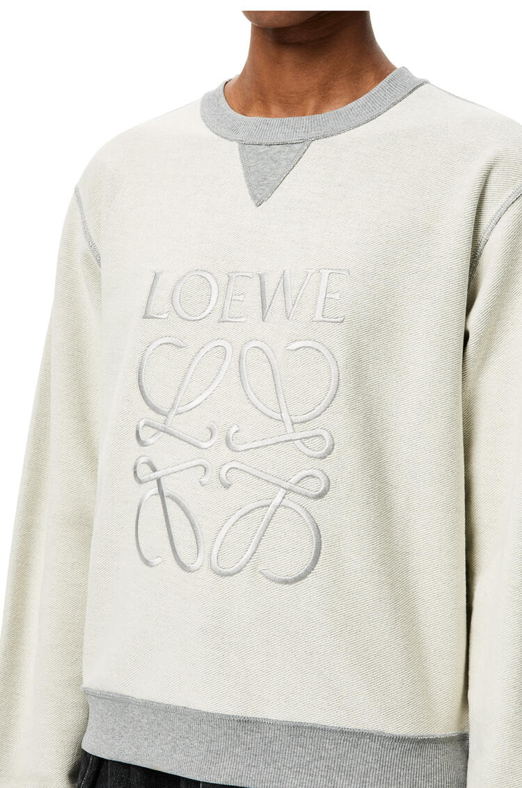 LOEWE Loewe刺绣棉质运动衫 麻灰色 pdp_rd