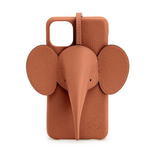 LOEWE Elephant Cover For Iphone 11 Pro Max 棕褐 front