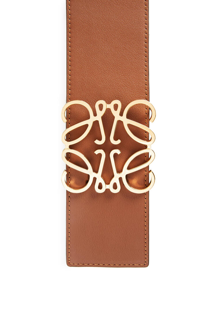 LOEWE Anagram belt in classic calfskin Tan/Gold pdp_rd