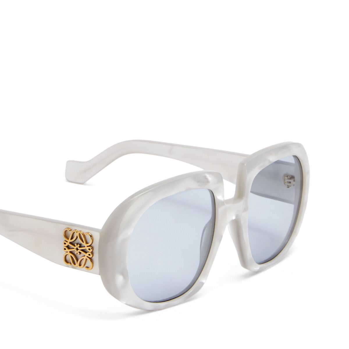 LOEWE Acetate Anagram Sunglasses Grey Pearl/Blue front