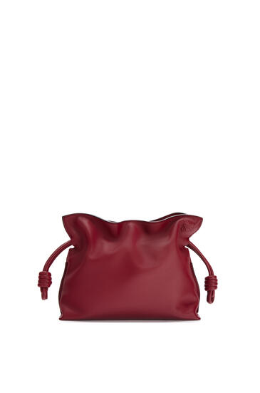 LOEWE Mini Flamenco clutch in nappa calfskin Deep Red pdp_rd
