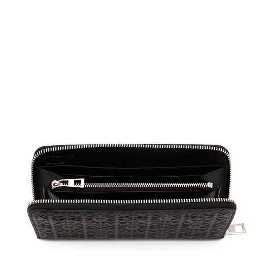 LOEWE Repeat Zip Around Wallet Black front