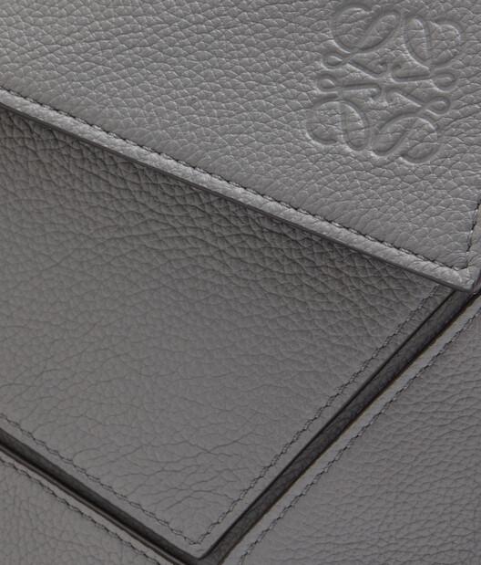 LOEWE Puzzle Messenger Bag Gunmetal front