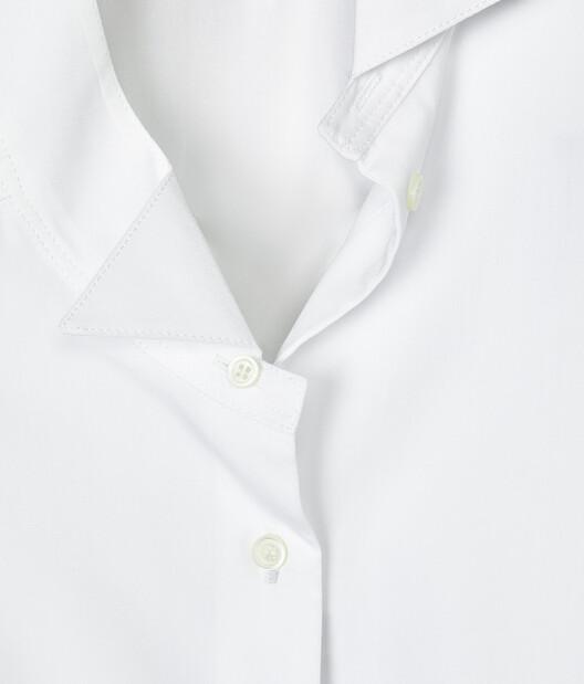 LOEWE Long Asymmetric Shirt White front