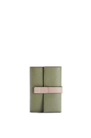 LOEWE Small vertical wallet in soft grained calfskin Avocado Green/Sand pdp_rd