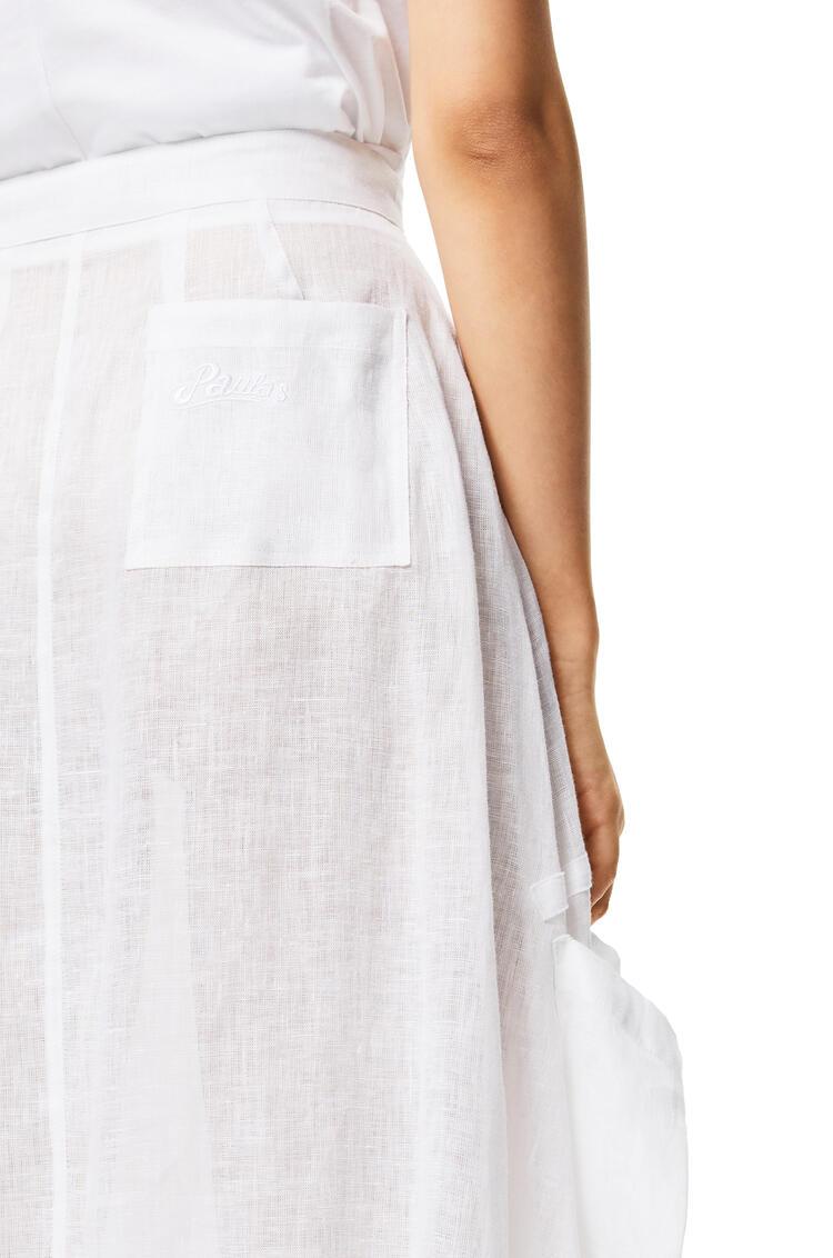 LOEWE Cargo Skirt In Linen White pdp_rd