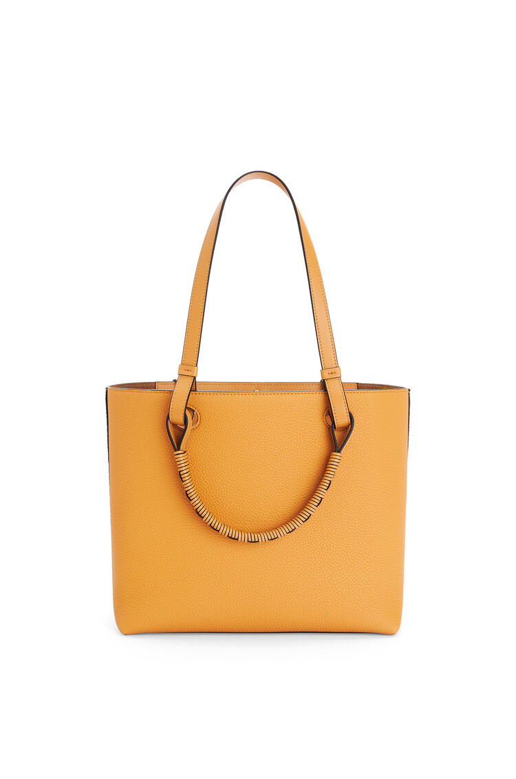 LOEWE Small Anagram tote bag in grained calfskin Saffron Yellow pdp_rd