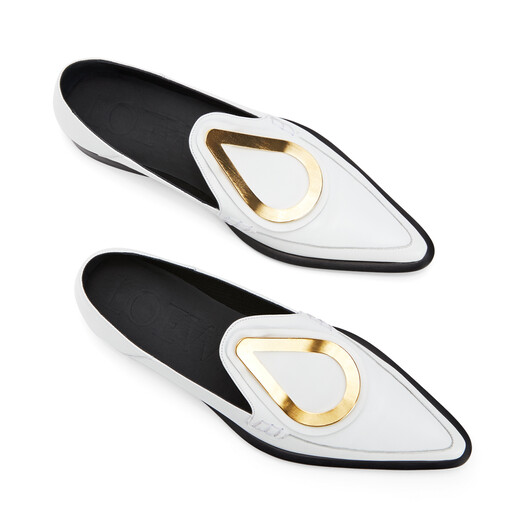 LOEWE Drop Pointy Loafer White front