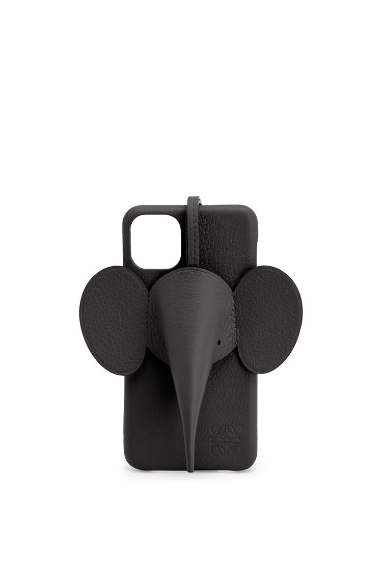 LOEWE Elephant cover for iPhone 11 Pro Max in classic calfskin Black pdp_rd
