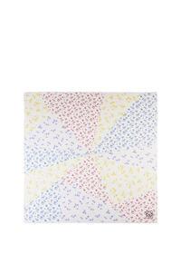 LOEWE Bufanda de 140 x 140 cm en cashmere y modal Multicolor pdp_rd