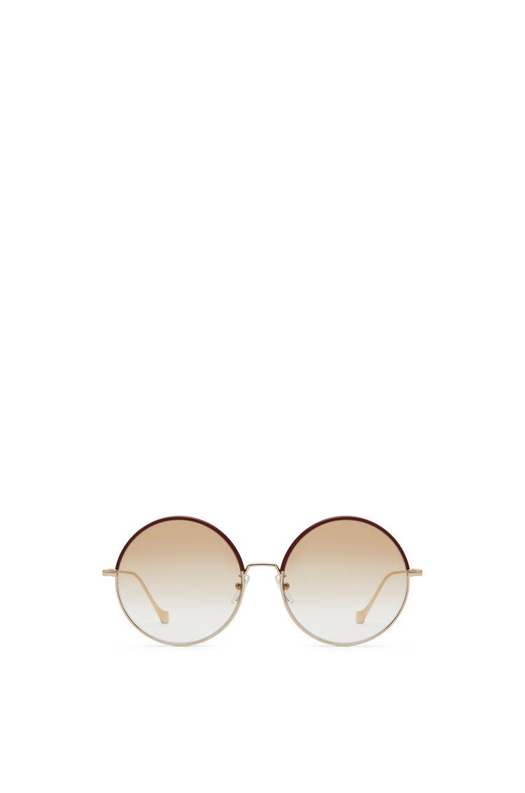 LOEWE Round Sunglasses Burgundy/Blush pdp_rd
