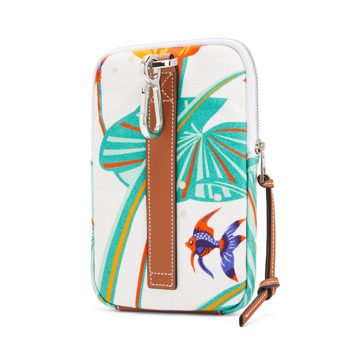 LOEWE Case In Waterlily Canvas White front