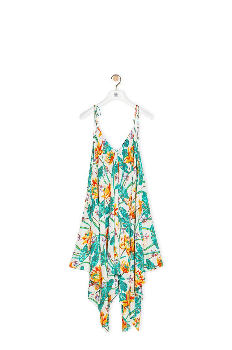 LOEWE Tank dress in waterlily silk Multicolor pdp_rd