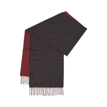LOEWE 30X180 Anagram Scarf Grey/Red front