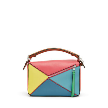 LOEWE Bolso Puzzle Pequeño Multicolor front