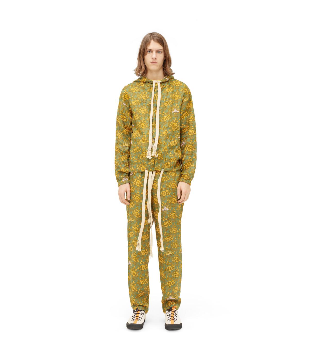LOEWE パウラプリントフードジャケット グリーン/マルチカラー front