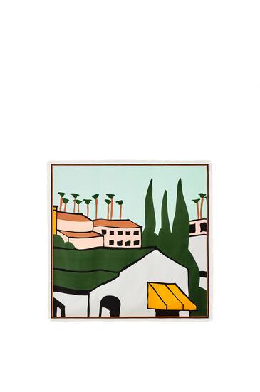 LOEWE 洛杉矶 系列真丝围巾 multicolor/white pdp_rd