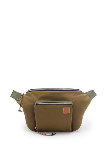 LOEWE XL Bumbag in canvas Khaki Green pdp_rd