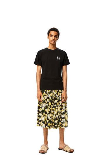 LOEWE Drawstring shorts in daisy viscose Black/Yellow pdp_rd