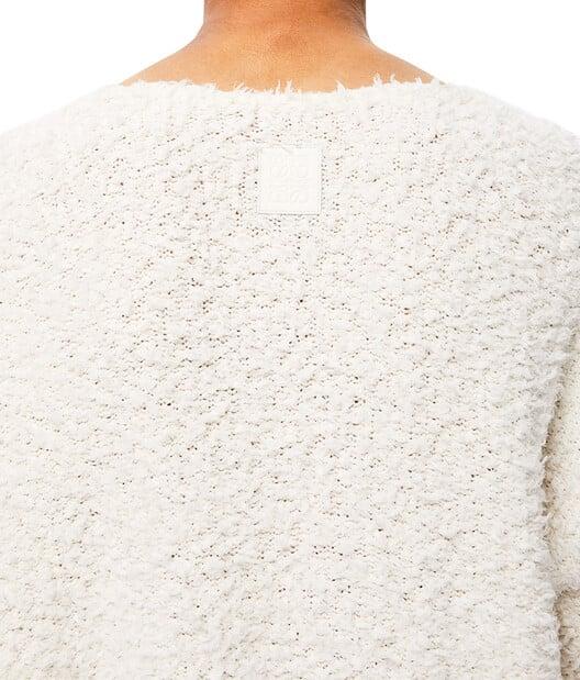 LOEWE Yzzuf V Neck Sweater White front