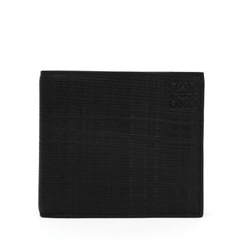 LOEWE Linen Bifold Wallet Black front