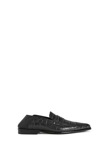 LOEWE Pointy Slip On Loafer In Calfskin 黑色/黑色 pdp_rd