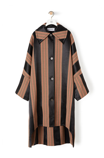 LOEWE Stripe Oversize Coat Brown/Black front