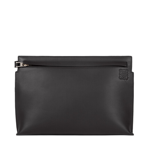 LOEWE T Pouch Bag Stamp Black front