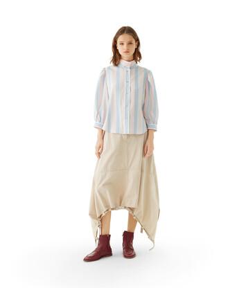 LOEWE Drawstring Skirt Beige front