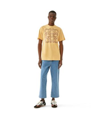 LOEWE Flower Print Anagram T-Shirt Amarillo Claro front