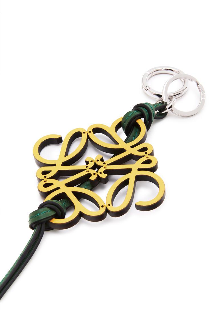 LOEWE Anagram charm in calfskin Yellow/Green pdp_rd
