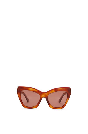 LOEWE Cateye Sunglasses Vintage Blonde/Red/S Brown pdp_rd