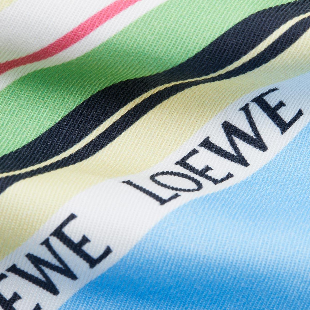 LOEWE Drawstring Pouch L Stripes Blue/Multicolor front