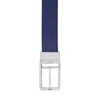 LOEWE Formal Belt 3.2Cm Adj/Rev Navy Blue/Black/Palladium front