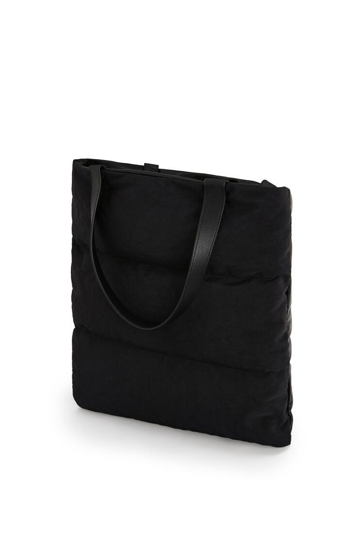 LOEWE Puffy Vertical Tote Bag In Calfskin And Nylon Black pdp_rd