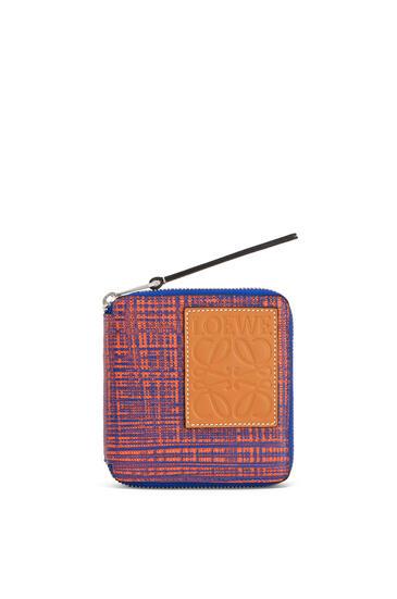 LOEWE 纹理小牛皮方形拉链钱包 Electric Blue/Orange pdp_rd