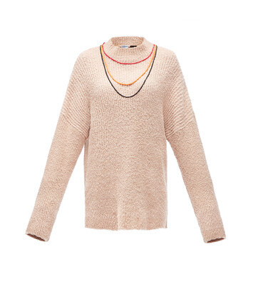 LOEWE Paula Sweater Necklaces Sand front