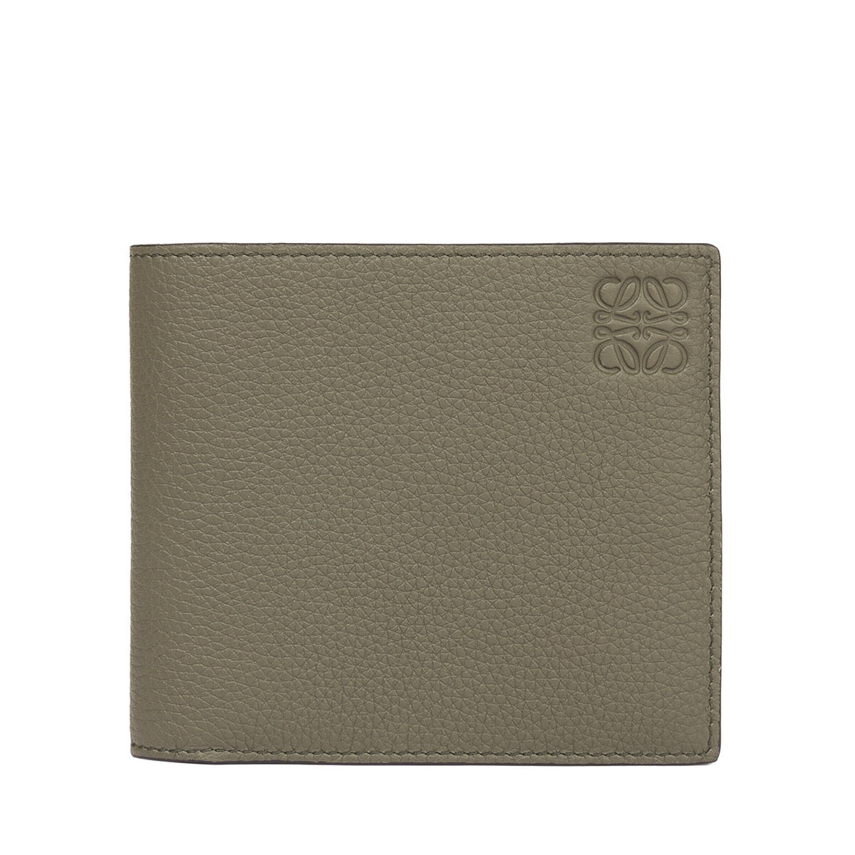 LOEWE Bifold Wallet Khaki Green/Pecan Color all