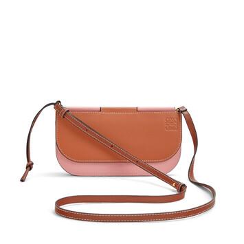 LOEWE Gate Pochette Tan/Medium Pink front