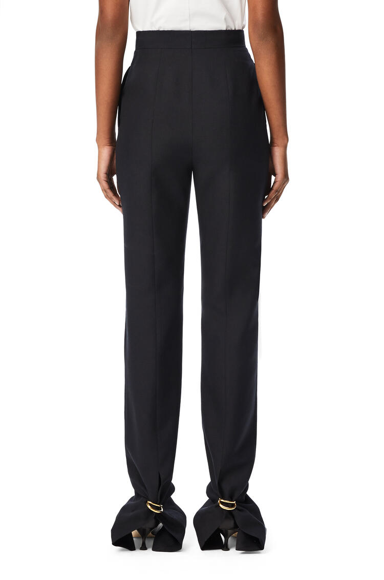 LOEWE Ring trousers in wool and silk Navy Blue pdp_rd