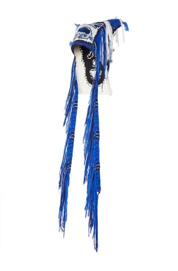 LOEWE Dragon Knit Beanie Azul front